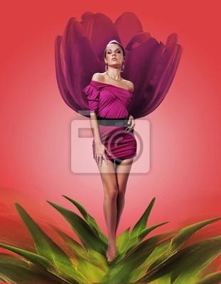 Kobieta w kwiecie