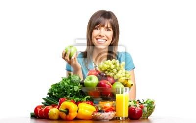 kobieta z owoców