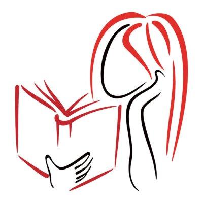 Fototapeta Kobiety czytania książki