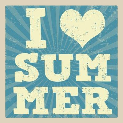 Fototapeta Kocham lato plakat