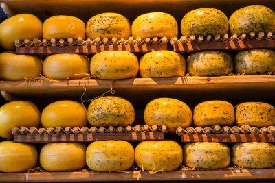 Fototapeta Koła sklepu z serami w Amsterdamie