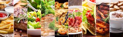 Fototapeta kolaż produktów spożywczych