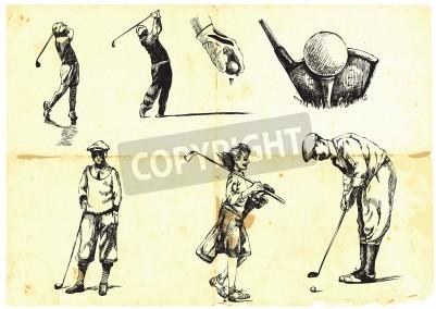 Fototapeta Kolekcja ręcznie rysowane Golf