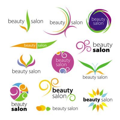 Fototapeta Kolekcja salonów urody vector logo