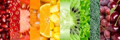 Fototapeta Kolekcja z różnych owoców i warzyw