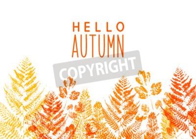 Fototapeta Kolor granicy liści dla Twojego projektu