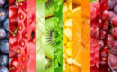 Fototapeta Kolor owoców, jagód i warzyw