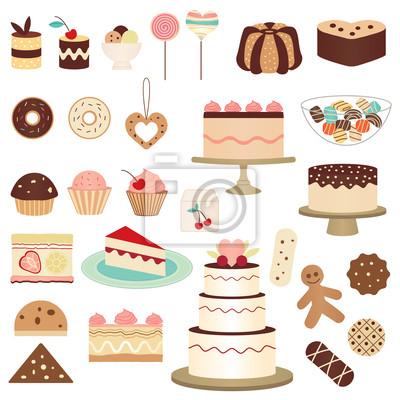 Kolorowa kolekcja ciasto