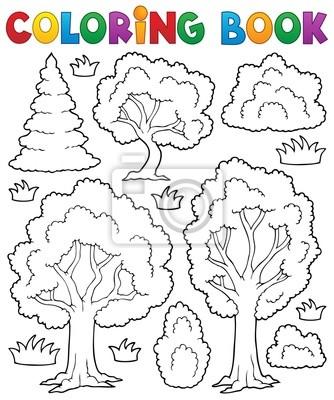 Fototapeta Kolorowanka Drzewo Temat 1 Na Wymiar Sztuka Malowac