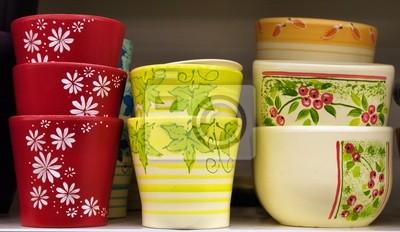 Kolorowe Ceramiczne Doniczki Fototapety Redro