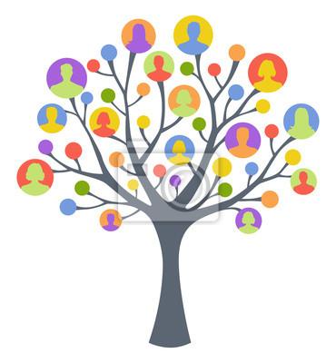 Kolorowe drzewa człowieka