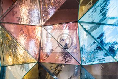 Fototapeta Kolorowe geometryczne tekstury tła trójkątne metaliczne
