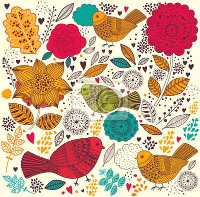 Kolorowe kwiatów tle