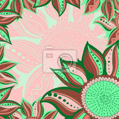17efdcc8885e39 Fototapeta Pastel brązowy szwu z piór i kruków. Elementy stylu ...