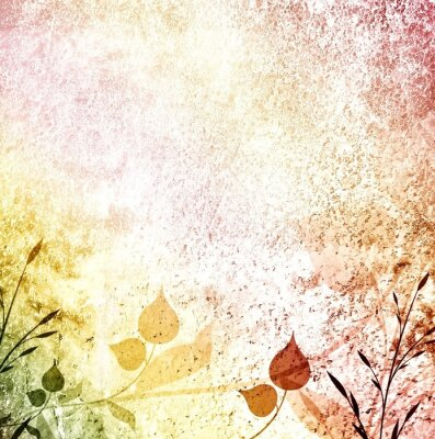 Fototapeta Kolorowe liście używane tle