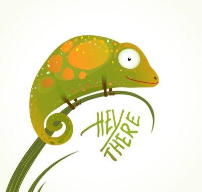 Fototapeta Kolorowe Lizard Dziecinne Animal Fun Cartoon Zarejestruj Hej tam