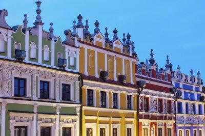 Fototapeta Kolorowe Rynek Wielki w Zamościu