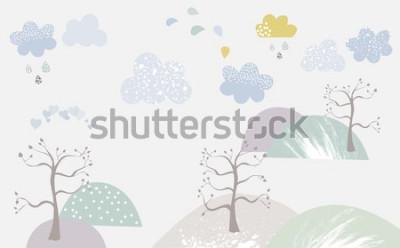 Fototapeta Kolorowe tapety do pokoju dziecięcego Góry
