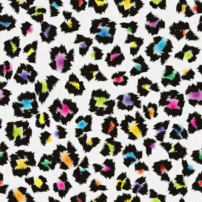 Fototapeta Kolorowe tło leopard futra