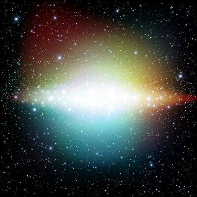 Fototapeta Kolorowe Wszechświat pełen gwiazd i mgławice galaktyki