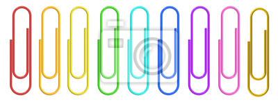 Fototapeta Kolorowy papier klipy zbliżenie, renderowania 3D