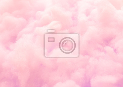 Fototapeta Kolorowy różowy puszysty bawełniany cukierek tło, miękkiego koloru słodki candyfloss, abstrakt zamazująca deserowa tekstura