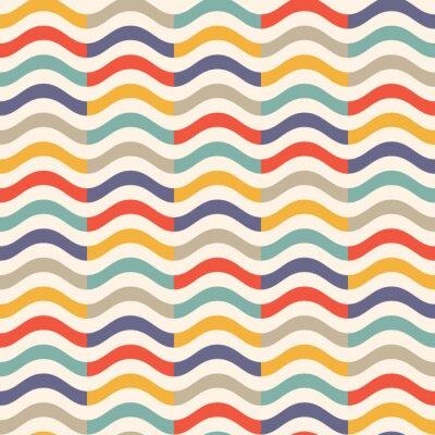 Fototapeta kolorowy wzór fali rocznika