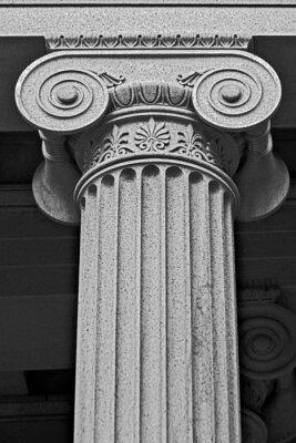 Fototapeta Kolumna detal architektoniczny i symbolika