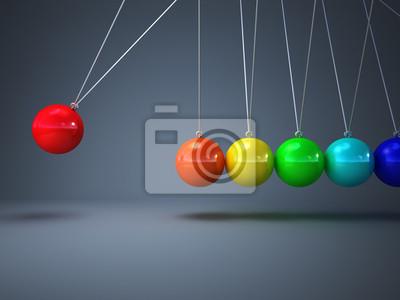 Fototapeta Kołyska Newtona tęczy