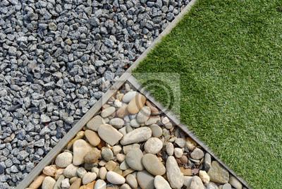 Fototapeta Kombinacje trawy i kamienie