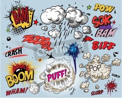 Fototapeta Komiks eksplozji