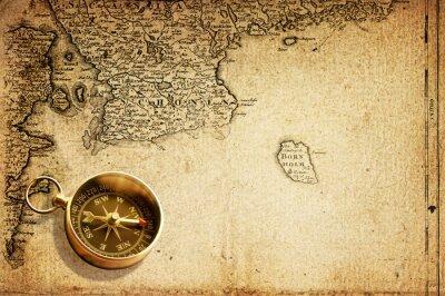 Fototapeta kompas (mapa 18 w.)