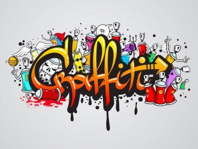 Fototapeta Kompozycja wydruku znaków Graffiti