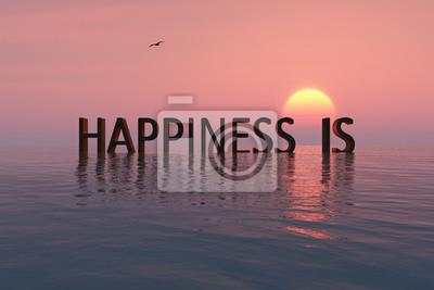 Fototapeta koncepcja szczęścia