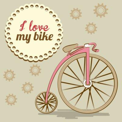Fototapeta Konstrukcja roweru, ilustracji wektorowych.