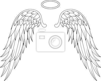 Konstrukcja Skrzydła Anioła Tatuaż Fototapety Redro