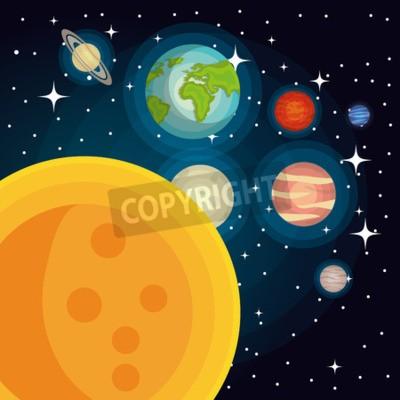 Fototapeta Konstrukcja układu słonecznego, ilustracji wektorowych eps10 graficzne