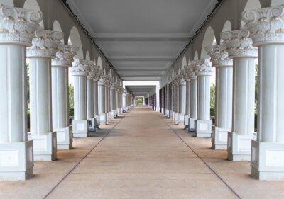 Fototapeta korytarz z kolumnami