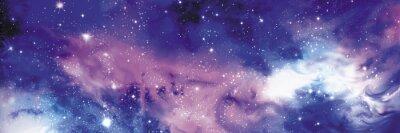 Fototapeta Kosmos baner z gwiazdami
