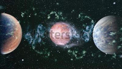 Fototapeta kosmos wiele lat świetlnych od Ziemi. Elementy tego obrazu dostarczone przez NASA