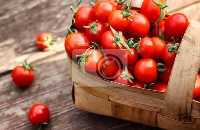 Fototapeta Koszyk świeżych pomidorów