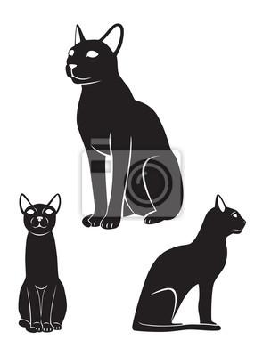 Fototapeta Kot Egipski Na Wymiar Czarny Piękno Tło Redropl