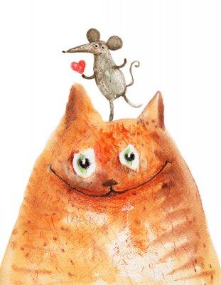 Fototapeta Kot z Mäuse