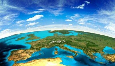 Fototapeta Krajobraz Europa z kosmosu
