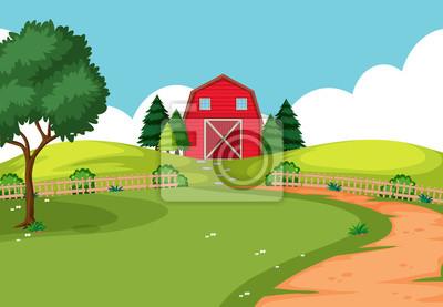 Fototapeta Krajobraz farmy na świeżym powietrzu