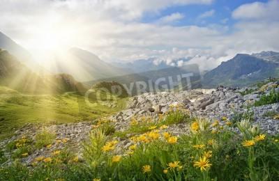 Fototapeta Krajobraz gór w Vorarlberg, Austria