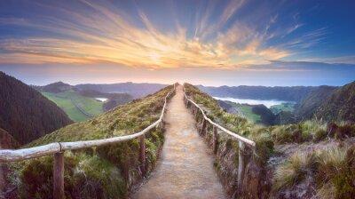 Fototapeta Krajobraz górski Ponta Delgada wyspa, Azory
