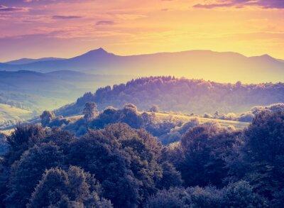 Fototapeta Krajobraz górski retro