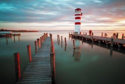 Fototapeta Krajobraz Ocean Sunset - Latarnia morska