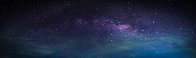 Fototapeta Krajobraz z galaktyką Drogi Mlecznej. Nocne niebo z gwiazdami.
